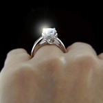Valentine's Day Gift Ideas | Betty Accented Solitaire Engagement Ring | Starting at $982