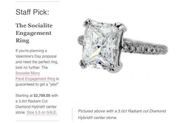 Valentine's Day Gift Ideas | MiaDonna Staff Pick | Socialite Micro Pave Engagement Ring