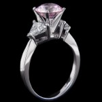Marsala Man-Made Diamonds | Pantone color of the year 2015 | Pink Man-Made Diamonds | Selma Engagement Ring