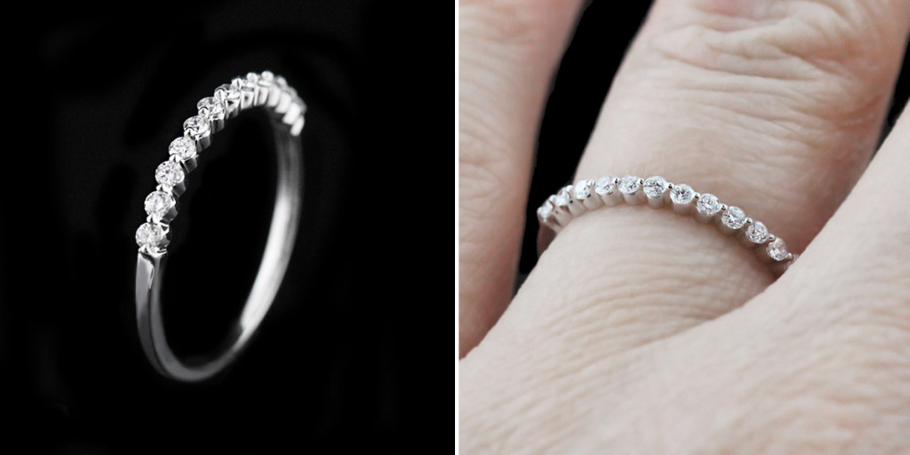 Willow Engagement Ring | Willow Wedding Band | MiaDonna