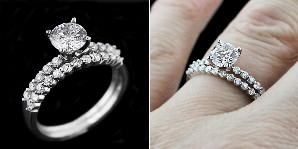 The Most Beautiful Wedding Rings Matching Diamond