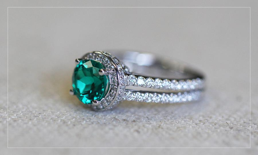Look Gorgeous in Green Lab-Created Emeralds | Kenya Engagement Ring