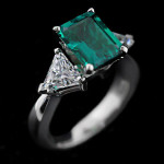 Look Gorgeous in Green Lab-Created Emeralds | Selma Engagement Ring