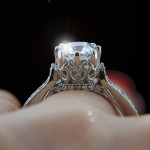 MiaDonna New Arrivals | Crown Vintage Engagement Ring