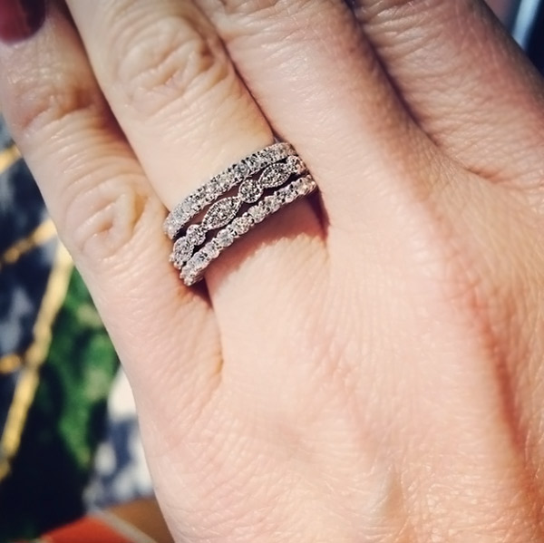 April Birthday - Lab-Created Diamond Rings are the perfect gift   Stacked Diamond Bands