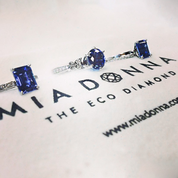 April Birthday - Lab-Created Diamond-Rings are the perfect gift   Traditional Gemstone Sapphire   Lab-Created Sapphire Engagement Rings   MiaDonna