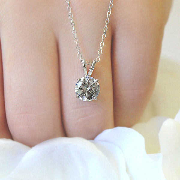 April Birthday - Lab-Created Engagement Rings are the perfect gift   Diamond Hybrid Baske Pendant   MiaDonna