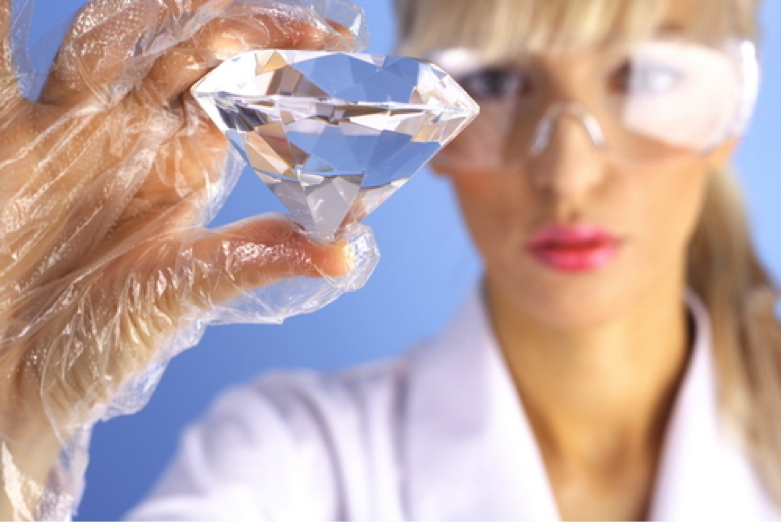 Lab-Created Diamonds vs. Earth-Mined Diamonds | Image courtesy of Shutterstock
