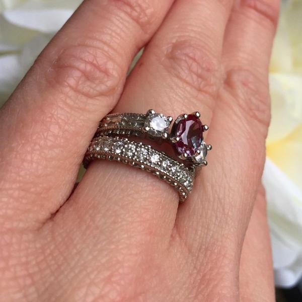 Lab-Created Diamond Wedding Bands - The Perfect Match | Custom Wedding Set