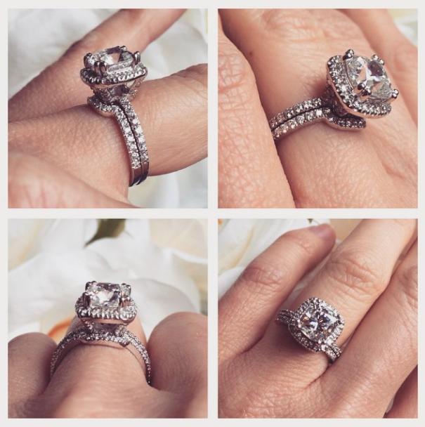 Lab-Created Diamond Wedding Bands - The Perfect Match   The Fashionista Wedding Set