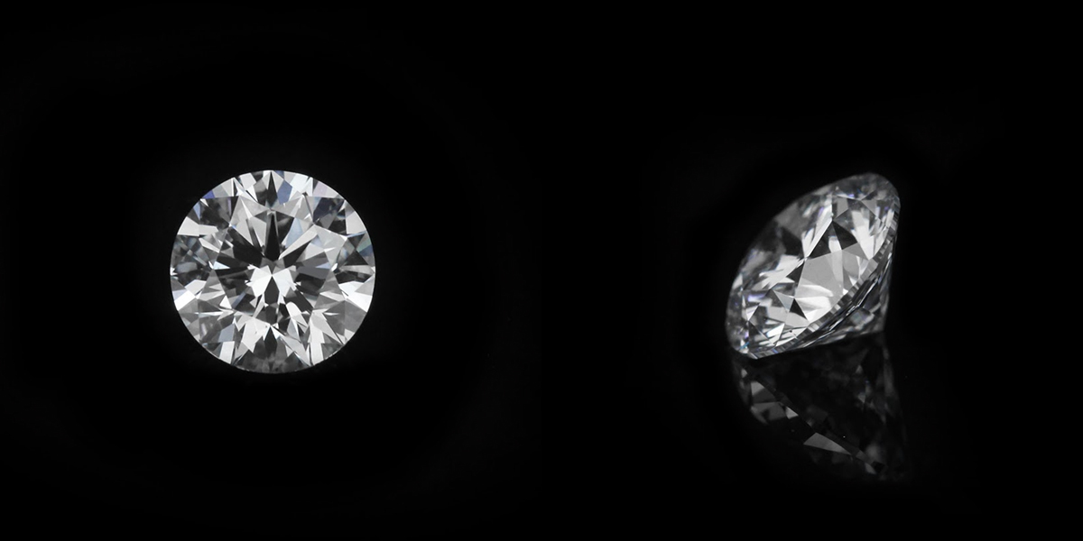 1.25ct Round cut E color - Faint Blue VS2 clarity | MiaDonna | Lab Created Diamonds | Unmatched beauty. Unrivaled quality. Unbeatable value