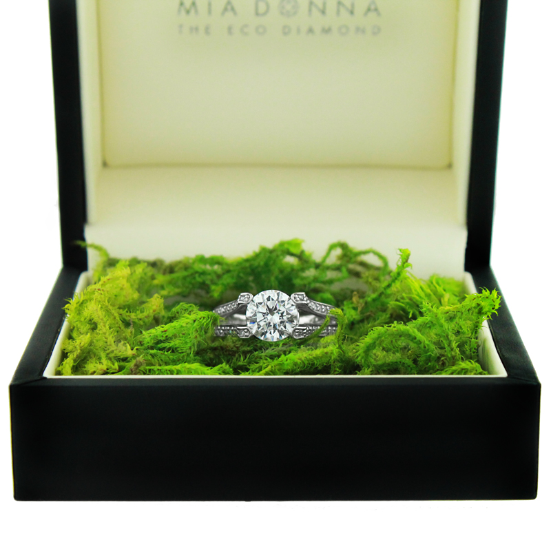 The World Famous Diamond Hybrid | Sunshine Engagement Ring |MiaDonna