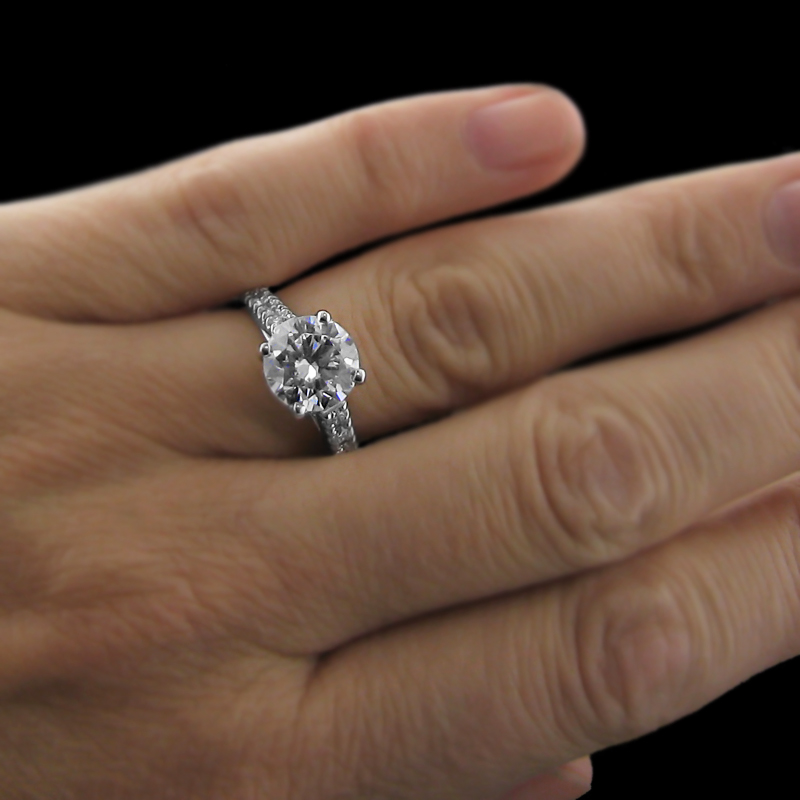 Lab-Created Diamond SALE  shop now! | Crimson Engagement Ring | Limited time offer - summer sale | MiaDonna