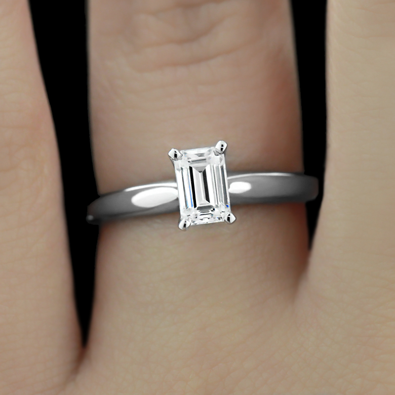 Lab-Created Diamond SALE  shop now! | Tiffany Solitare Engagement Ring | Limited time offer - summer sale | MiaDonna