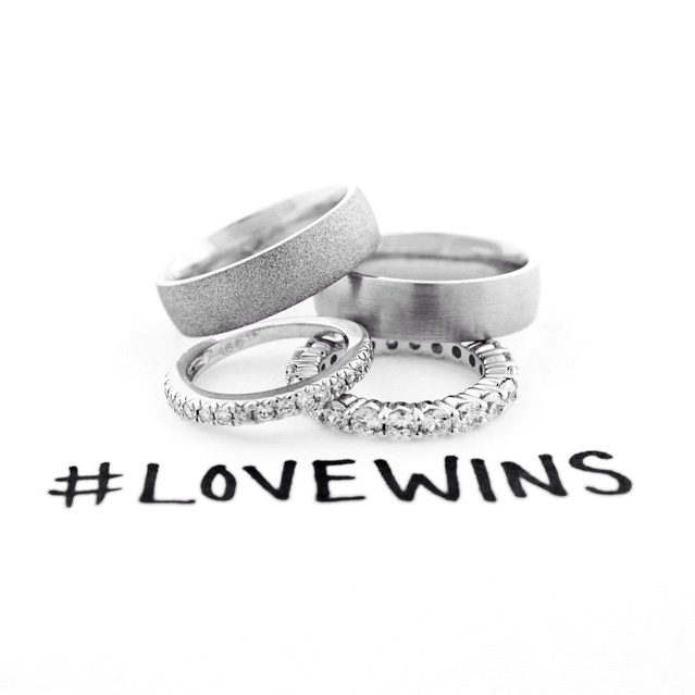 #LoveWins - Gay and Lesbian Engagement Rings