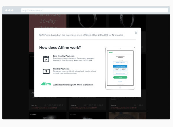 Financing with MiaDonna - Buy Now and Pay Later! | Affirm Financing