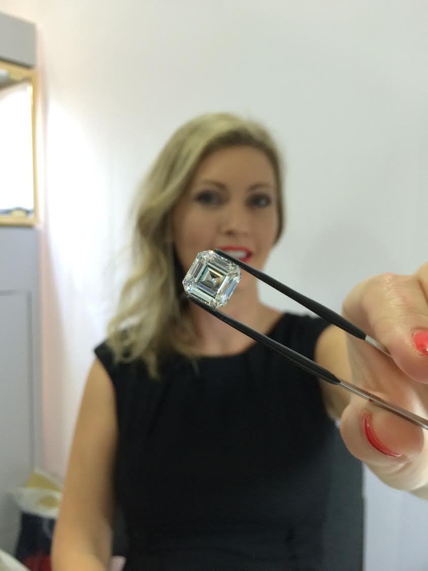 MiaDonna CEO Anna Mieke Anderson with the World's Largest Lab-Created Diamond