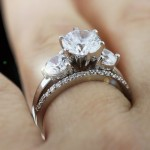 What's Your Style? | Sentimental | Caramelo with Universal Wedding Band Engagement Ring | MiaDonna