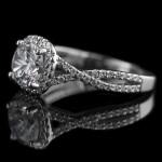 The True Beauty of Infinity Engagement Rings | Eternal Monogram Engagement Ring