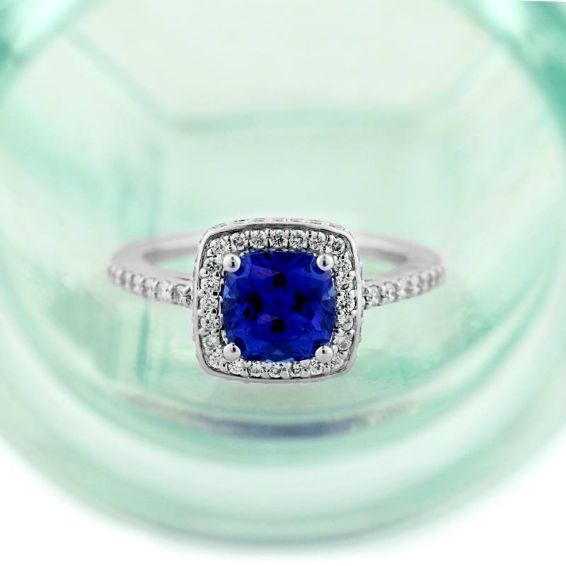 Do's and Don'ts to Custom Engagement Ring Design | Custom Engagement Ring with Blue Sapphire | MiaDonna