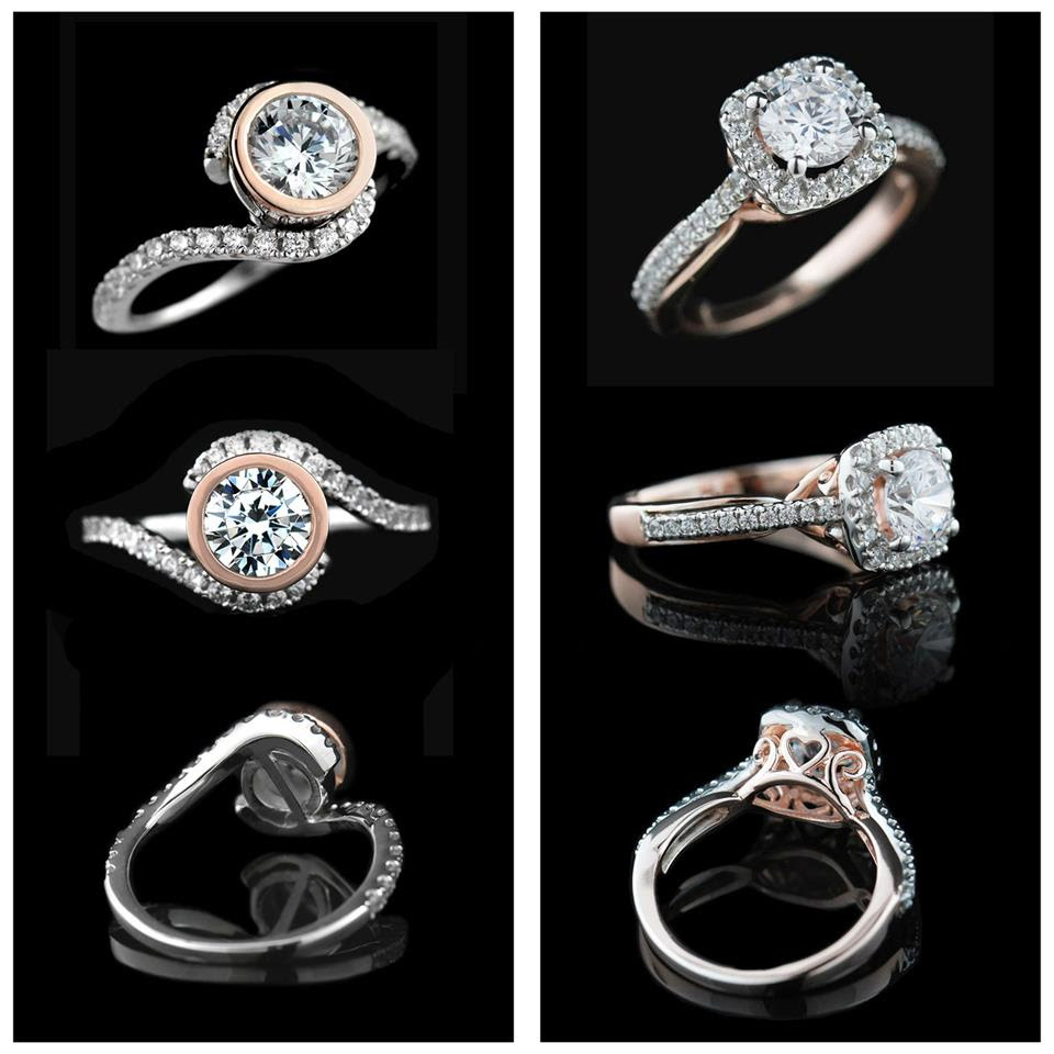 Introducing the Two-Tone Engagement Ring Collection | Davis and Glisan Two-Tone Engagment Rings | MiaDonna