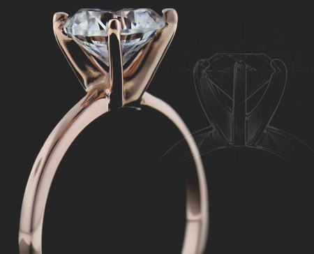 Ordering you Engagement Ring online with MiaDonna has never been easier  | Select your prong head