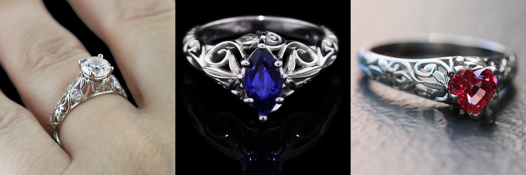 The Tory Antique Engagement Ring | Custom Design Your Own Engagement Ring | MiaDonna