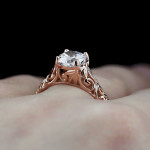 The Tory Antique Engagement Ring | Rose Gold | MiaDonna