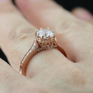 Rose Gold Engagement Rings | Crown Engagement Ring