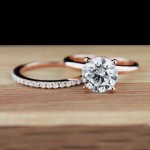 Rose Gold Engagement Rings | Traditional Engagement Ring and Universal Wedding Band
