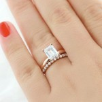 Rose Gold Engagement Rings | Traditional Engagement Ring and Willow Wedding Band