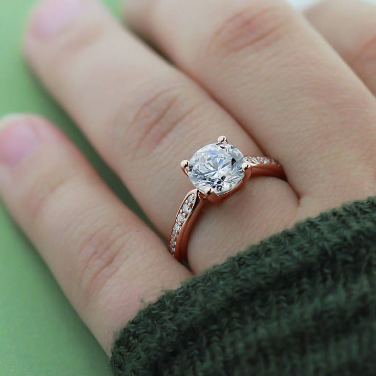 rose gold engagement rings miadonna the future of diamond. Black Bedroom Furniture Sets. Home Design Ideas