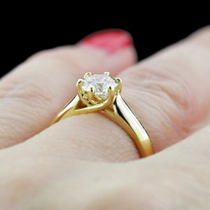 Engagement Season | Calista Solitaire Engagement Ring | White Lab-Created Diamond