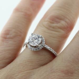 Engagemen t Season | Lovely Engagement Ring | White Lab-Created Diamond