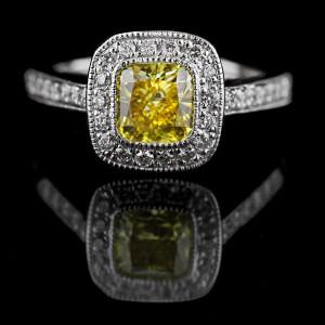 Engagement Season | Luxury Antique Engagement Ring | Yellow Lab-Created Diamond