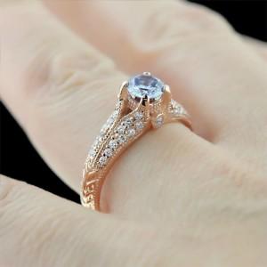 Engagement Season | Phoebe Engagement Ring | Blue Lab-Created Diamond