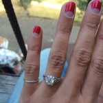 Aly Michalka Engagement Ring | image credit - Instagram