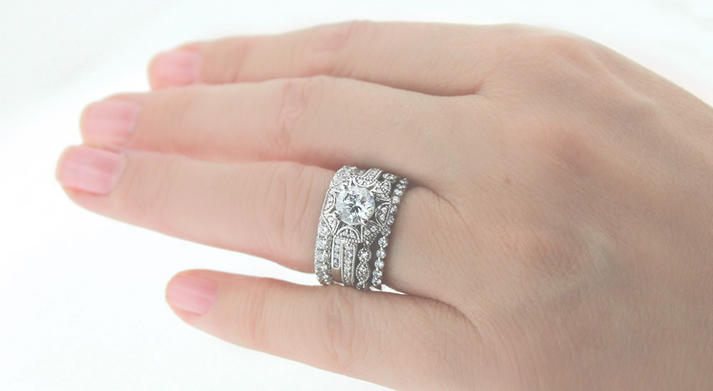 2015 - The Year for Lab-Grown Diamonds | 2016 Trends Stacked Bands