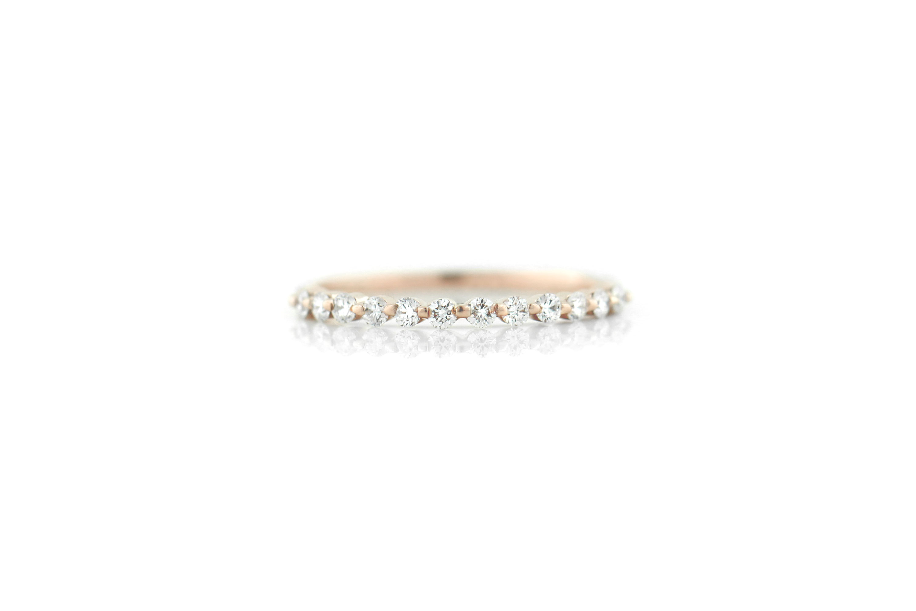 This Valentine's Day instead of Roses, Give Her Rose Gold | Willow Diamond Wedding Band