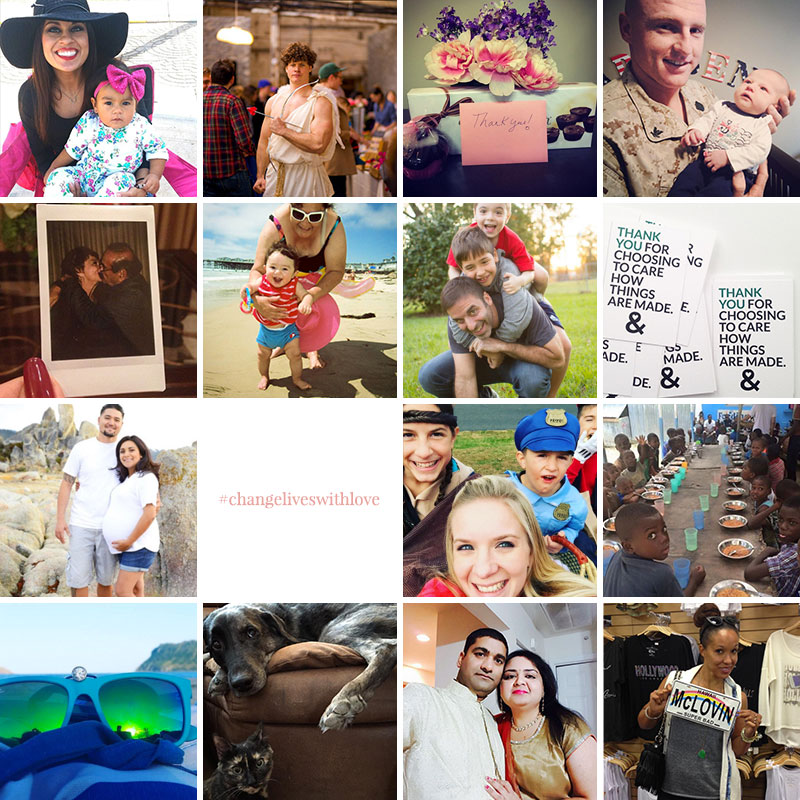 Change Lives with Love | MiaDonna Instagram Contest | Honorable Mentions