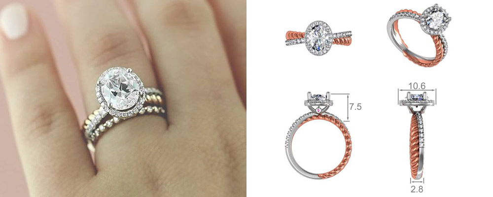 Custom Two-Tone Engagement Rings - Terwilliger Engagement Ring