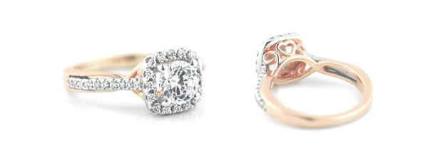 Custom Two-Tone Engagement Rings by MiaDonna