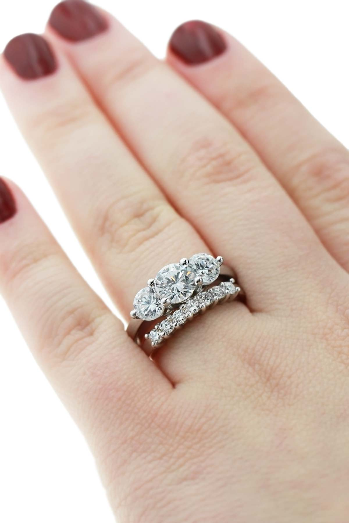 Wedding Band For Princess Cut Engagement Ring