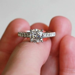 Man Made Diamonds are everything-Crimson Engagement Ring
