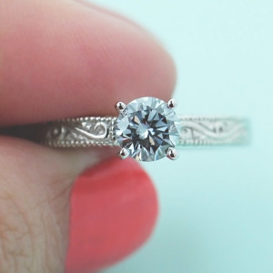 Man Made Diamonds are everything-Victorian Engagement Ring