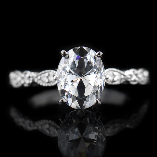 Amore Engagement Ring - 1.85ct Oval DH 18K White