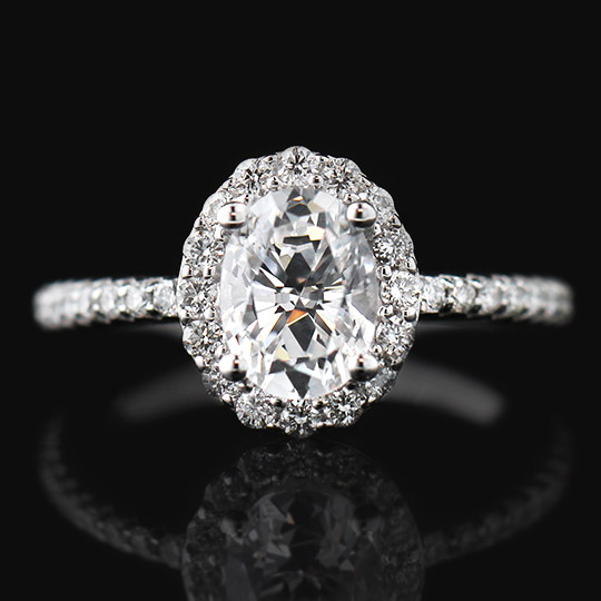 Bliss Engagement Ring with a 1.25ct Oval Cut Diamond Hybrid®.