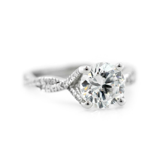 Custom Twisted Band Engagement Ring