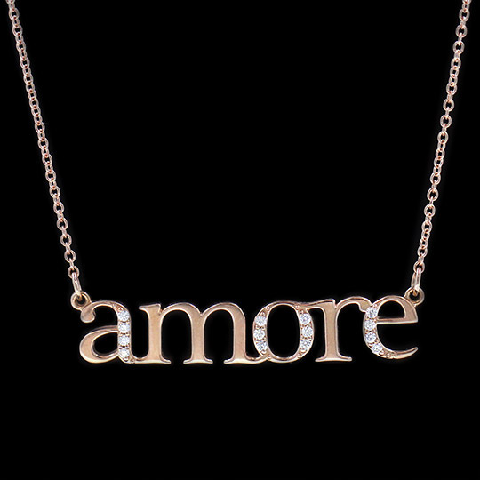 Amore Text Pendant