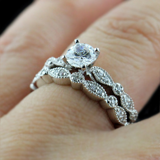 vintage wedding rings sets fall in with a made engagement ring 8333